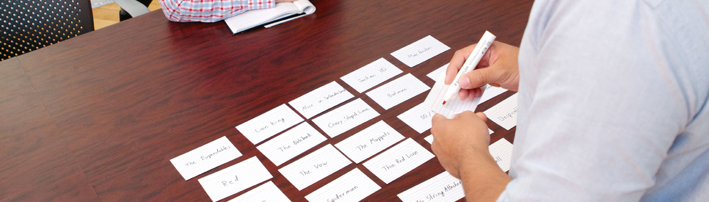 Card Sorting: Content categorization.